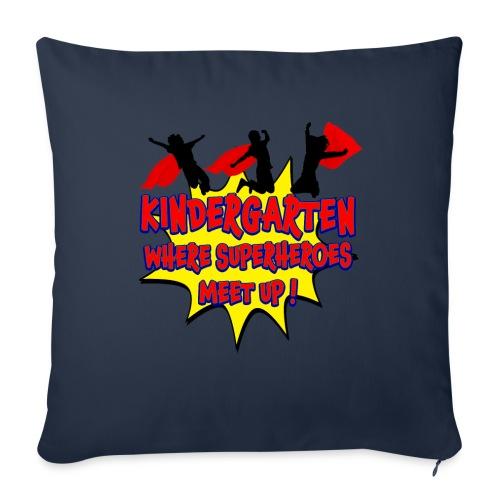 """Kindergarten where SUPERHEROES meet up! - Throw Pillow Cover 18"""" x 18"""""""