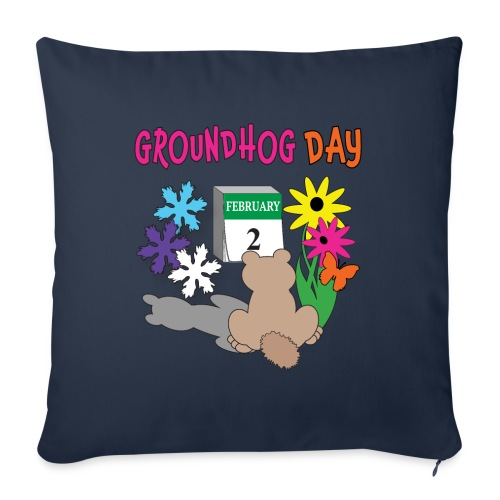 """Groundhog Day Dilemma - Throw Pillow Cover 18"""" x 18"""""""