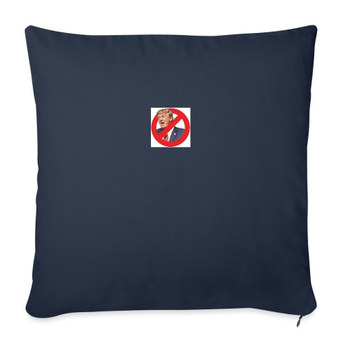 "blog stop trump - Throw Pillow Cover 18"" x 18"""