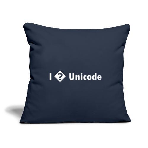 "I � Unicode - Throw Pillow Cover 18"" x 18"""