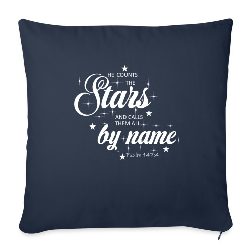 "Psalm 147:4 - Throw Pillow Cover 18"" x 18"""