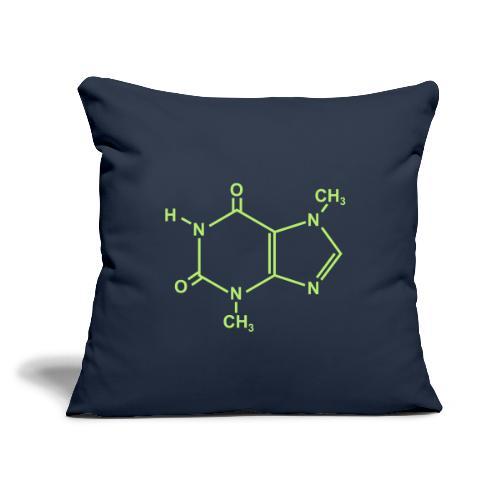 "Chocolate (Theobromine) Molecule - Throw Pillow Cover 18"" x 18"""
