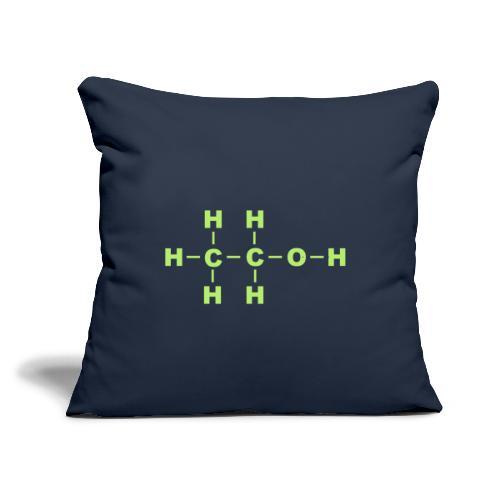 """Alcohol Molecule - Throw Pillow Cover 18"""" x 18"""""""