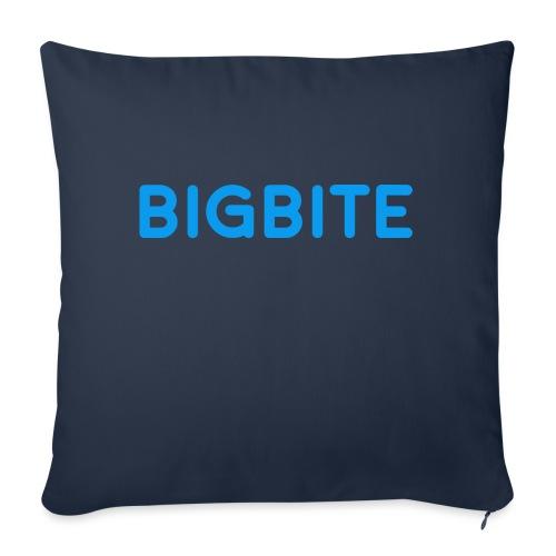 "BIGBITE Blue - Throw Pillow Cover 18"" x 18"""