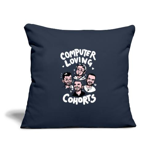 "Computer Loving Cohorts - Throw Pillow Cover 18"" x 18"""