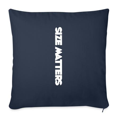 """SIZEMATTERSVERTICAL - Throw Pillow Cover 18"""" x 18"""""""