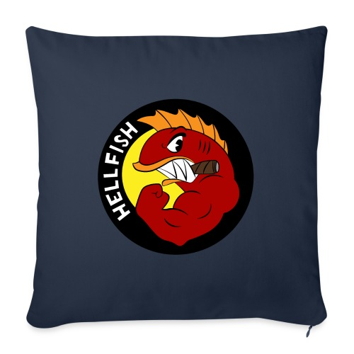 "Hellfish - Flying Hellfish - Throw Pillow Cover 17.5"" x 17.5"""