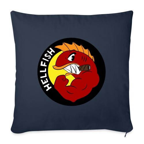 "Hellfish - Flying Hellfish - Throw Pillow Cover 17.5"" x 17.5"""