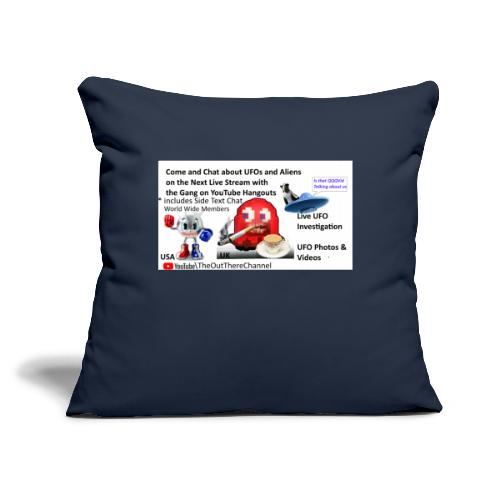 """OT Live Stream Tshirt with Crew Back Logo - Throw Pillow Cover 17.5"""" x 17.5"""""""