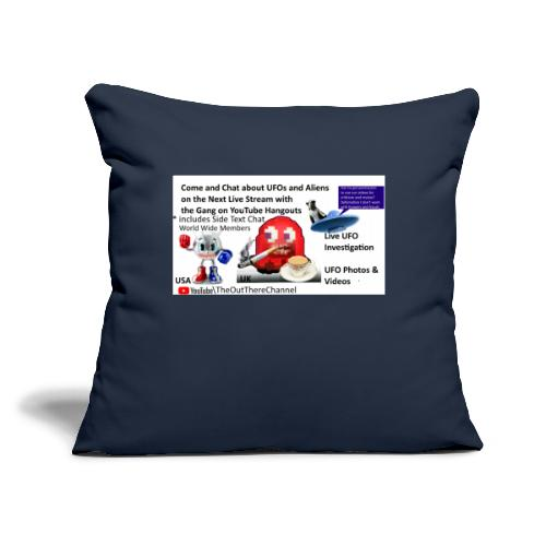 """LiveStreamWelcome2 with Crew Back Logo - Throw Pillow Cover 17.5"""" x 17.5"""""""