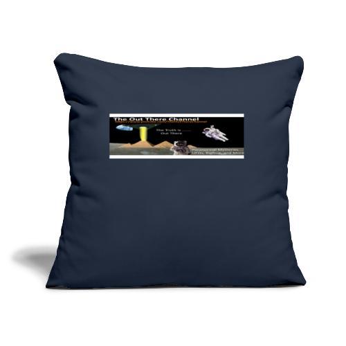 """UFO Pyramids v2 with Crew Back Logo - Throw Pillow Cover 17.5"""" x 17.5"""""""