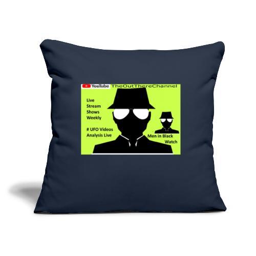 "Mib 2 Men with Back Crew Logo - Throw Pillow Cover 17.5"" x 17.5"""