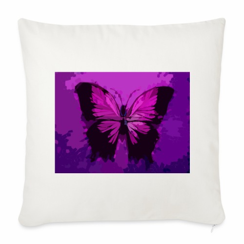 Fuchsia Pink Butterfly - Throw Pillow Cover