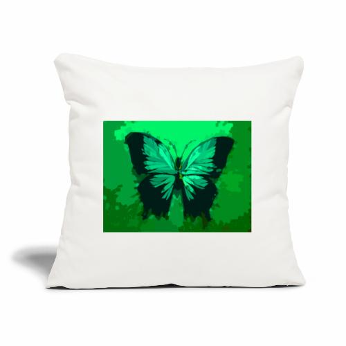 Light Green Butterfly - Throw Pillow Cover