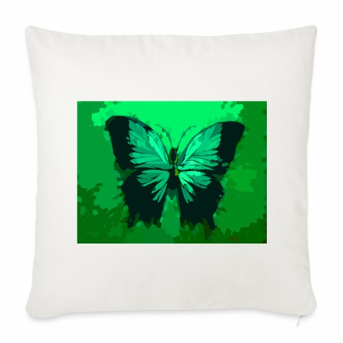 Light Green Butterfly - Throw Pillow Cover