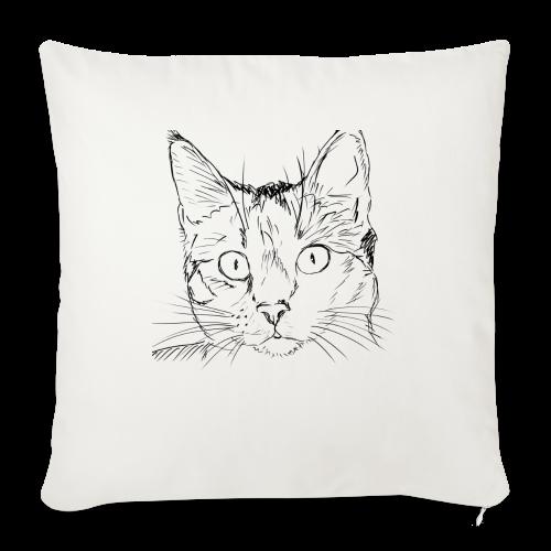Cat - Throw Pillow Cover