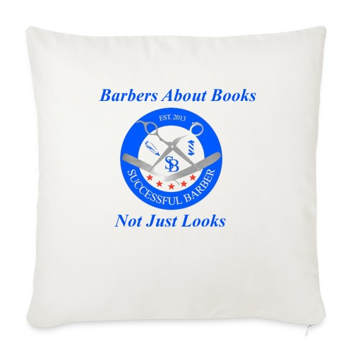 BarberShop Books - Throw Pillow Cover