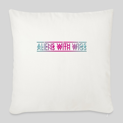 ALIENS WITH WIGS - Logo - Throw Pillow Cover