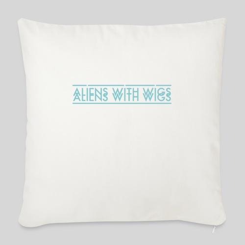 AliensWithWigs-Logo-Bleu - Throw Pillow Cover