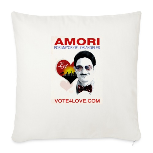 Amori for Mayor of Los Angeles eco friendly shirt - Throw Pillow Cover
