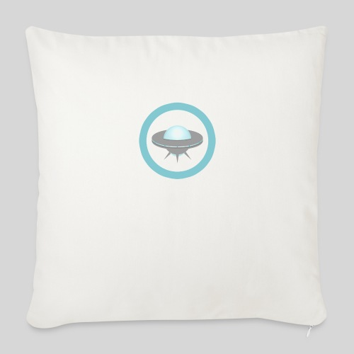 ALIENS WITH WIGS - Small UFO - Throw Pillow Cover