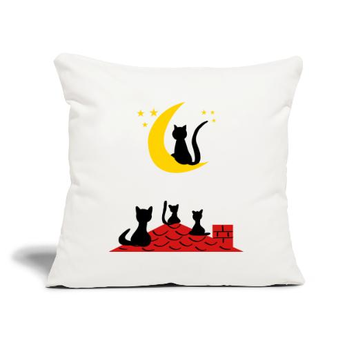 """Cats on the roof - Throw Pillow Cover 17.5"""" x 17.5"""""""