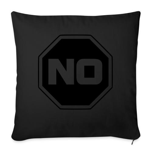 "stopp say no - Throw Pillow Cover 18"" x 18"""