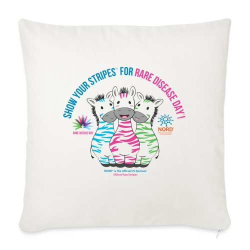 "Show Your Stripes for Rare Disease Day! - Throw Pillow Cover 17.5"" x 17.5"""