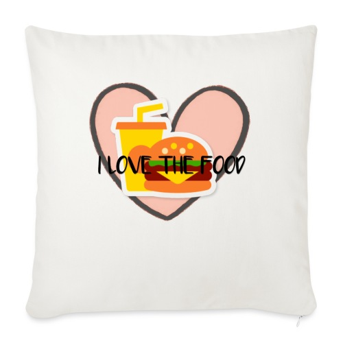 """Food - Throw Pillow Cover 18"""" x 18"""""""