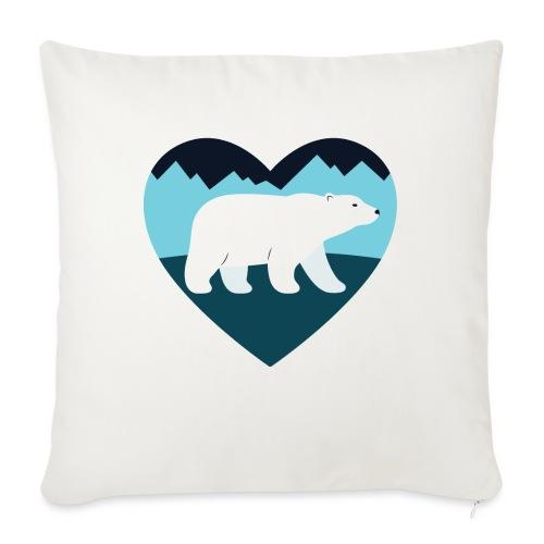 "Polar Bear Love - Throw Pillow Cover 17.5"" x 17.5"""