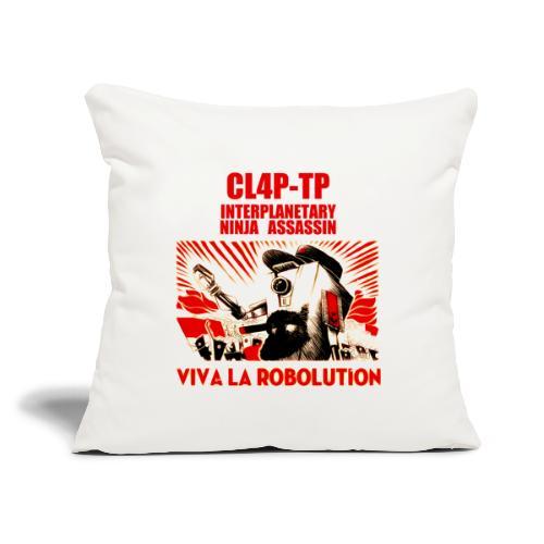 """Claptrap Viva la Robolution - Throw Pillow Cover 17.5"""" x 17.5"""""""