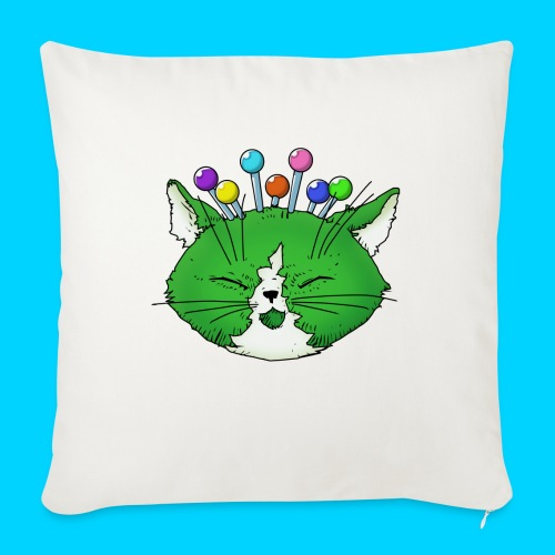 """Fantastic Contraption III (no text) - Throw Pillow Cover 18"""" x 18"""""""