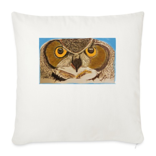 """Wise Owl - Throw Pillow Cover 17.5"""" x 17.5"""""""