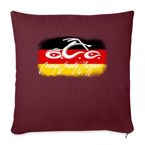 "OCC Logo Distressed German Flag - Throw Pillow Cover 18"" x 18"""