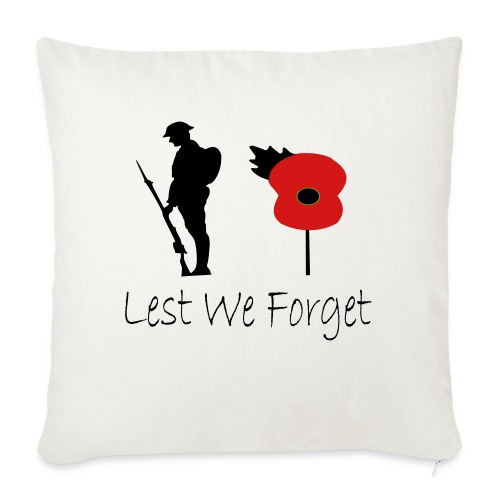 """Lest We Forget - Throw Pillow Cover 17.5"""" x 17.5"""""""