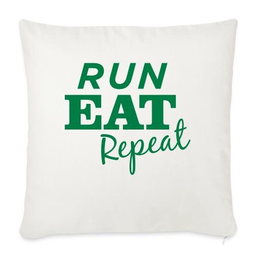 "Run Eat Repeat buttons medium - Throw Pillow Cover 17.5"" x 17.5"""
