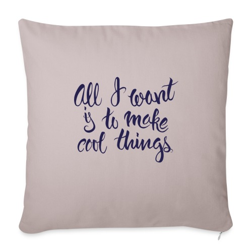 """Cool Things Navy - Throw Pillow Cover 17.5"""" x 17.5"""""""