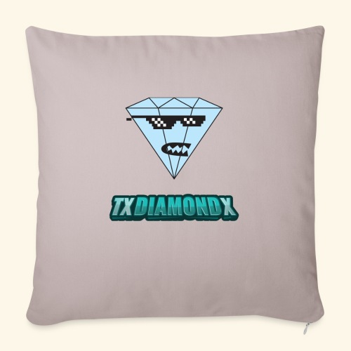 """Txdiamondx Diamond Guy Logo - Throw Pillow Cover 18"""" x 18"""""""
