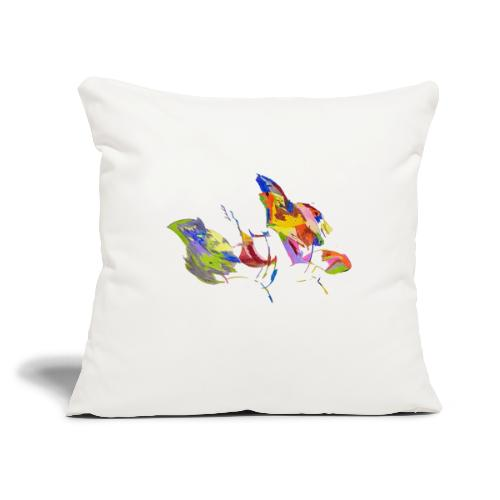 "Bird - Throw Pillow Cover 18"" x 18"""