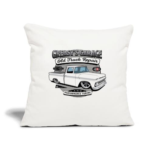 """Greasy's Garage Old Truck Repair - Throw Pillow Cover 17.5"""" x 17.5"""""""