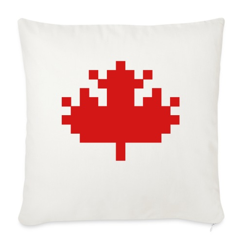 """Pixel Maple Leaf - Throw Pillow Cover 17.5"""" x 17.5"""""""