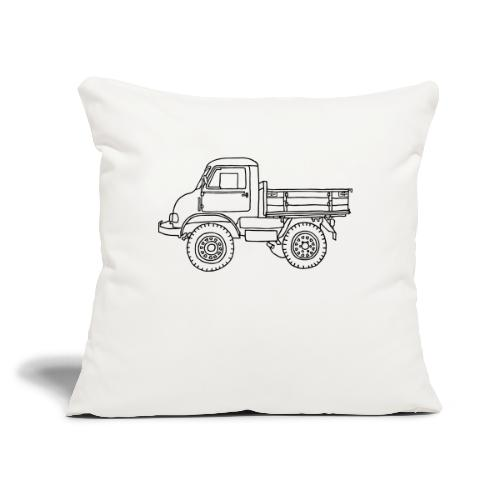 """Off-road truck, transporter - Throw Pillow Cover 17.5"""" x 17.5"""""""