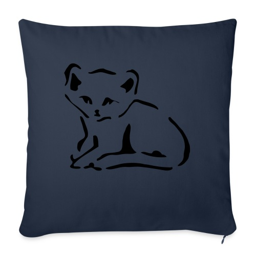 "Kitty Cat - Throw Pillow Cover 18"" x 18"""