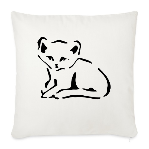 """Kitty Cat - Throw Pillow Cover 17.5"""" x 17.5"""""""