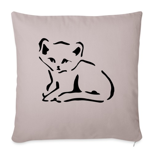 """Kitty Cat - Throw Pillow Cover 18"""" x 18"""""""