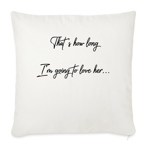 """longloveher - Throw Pillow Cover 17.5"""" x 17.5"""""""