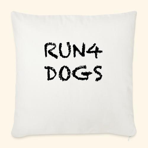 "RUN4DOGS NAME - Throw Pillow Cover 17.5"" x 17.5"""