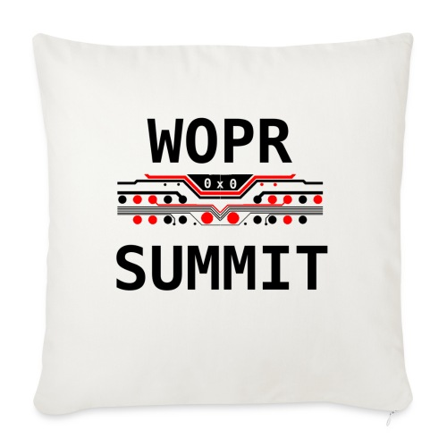 "WOPR Summit 0x0 RB - Throw Pillow Cover 18"" x 18"""