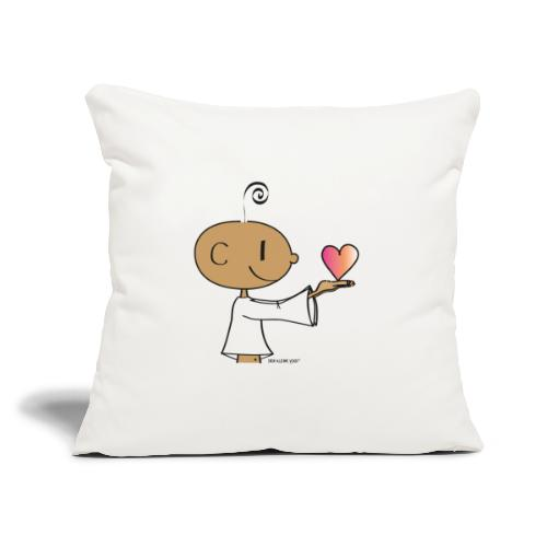 "The little Yogi - Throw Pillow Cover 17.5"" x 17.5"""