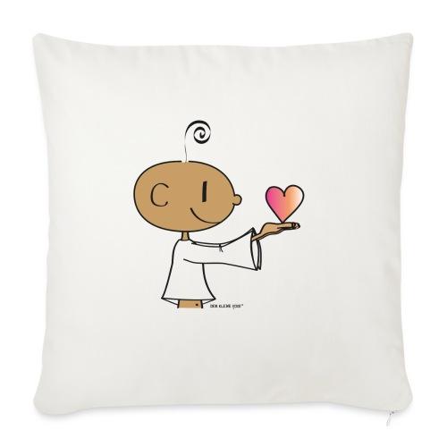 "The little Yogi - Throw Pillow Cover 18"" x 18"""